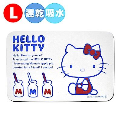 Hello Kitty 珪藻土足乾樂吸水抗菌地墊-L(日本境內版)
