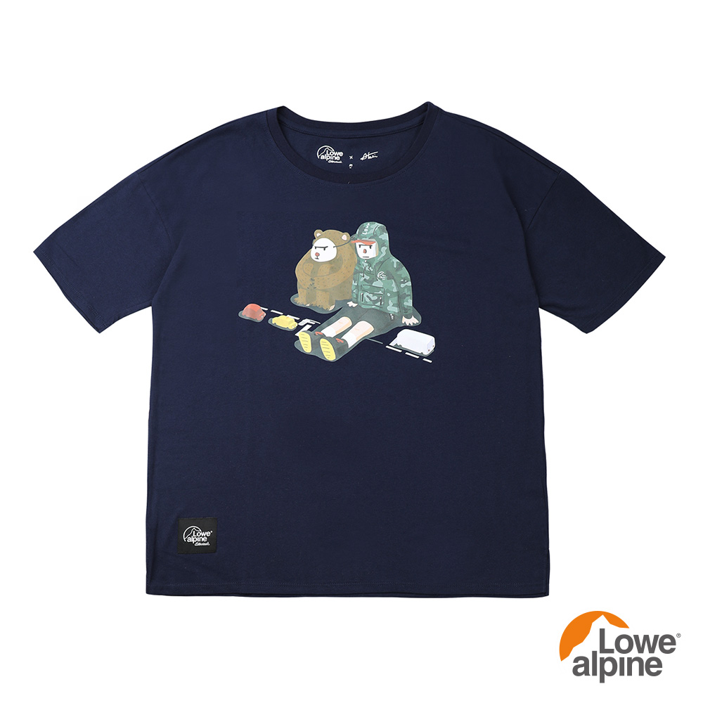 Lowe alpi Silvermar女款Abei聯名插畫T恤-05 海軍藍