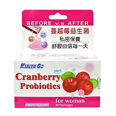 生達-蔓越莓益生菌健康粉 30包
