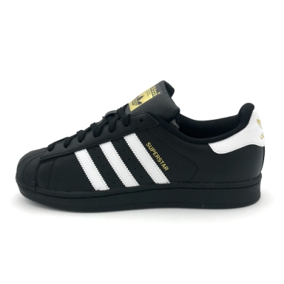 ADIDAS SUPERSTAR FOUNDATION 男女休閒鞋 黑金-B27140