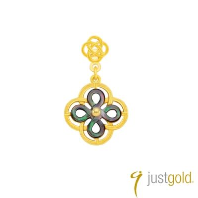 鎮金店Just Gold 喜‧如意純金系列 黃金單耳耳環(雅緻)