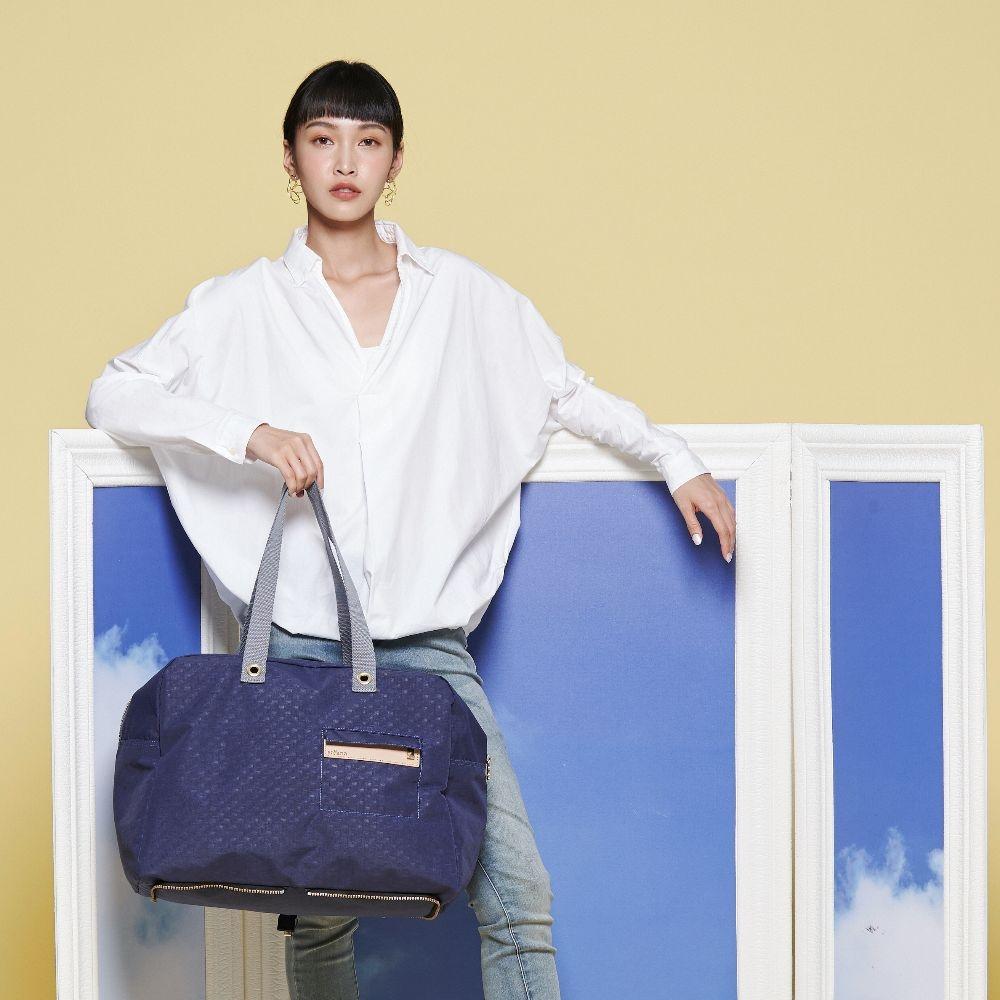 satana - Soldier 好安心折疊式旅行袋 - 琉璃藍