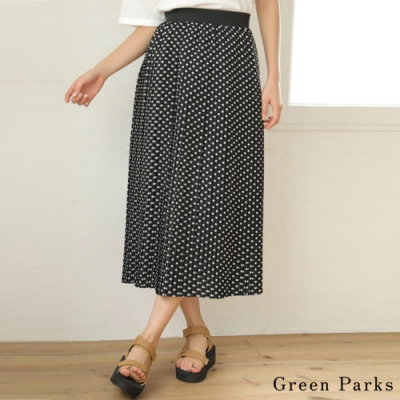 Green Parks 點點百摺長裙