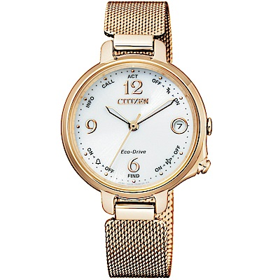 CITIZEN星辰藍牙連線光動能限量女腕錶(EE4032-80A)