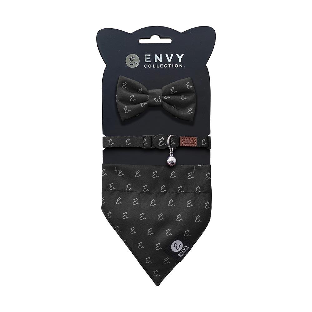 ENVY COLLECTION 貓頸圈 優雅黑logo三件組