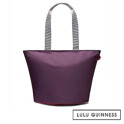 LULU GUINNESS LOLA 托特包-大 (茄紫)
