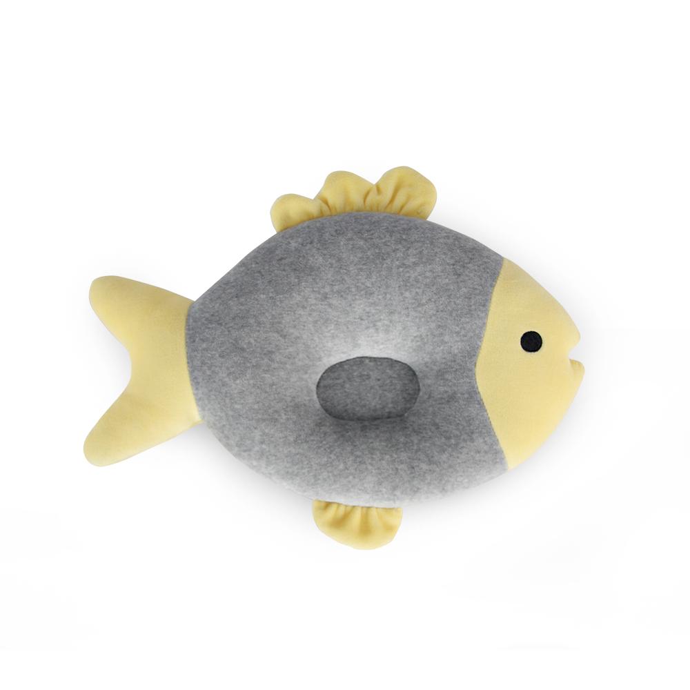 Yvonne Collection 魚魚午安枕-淺灰/嫩黃