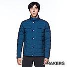 【HAKERS 哈克士】男款 防潑羽絨外套(陶瓷藍)