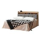 柏蒂家居-溫斯頓5尺雙人床組(床頭箱+床台/不含床墊)