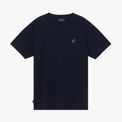 agnes b. - Sport b. 恐龍胸章圓領素色短袖上衣(男)(黑)