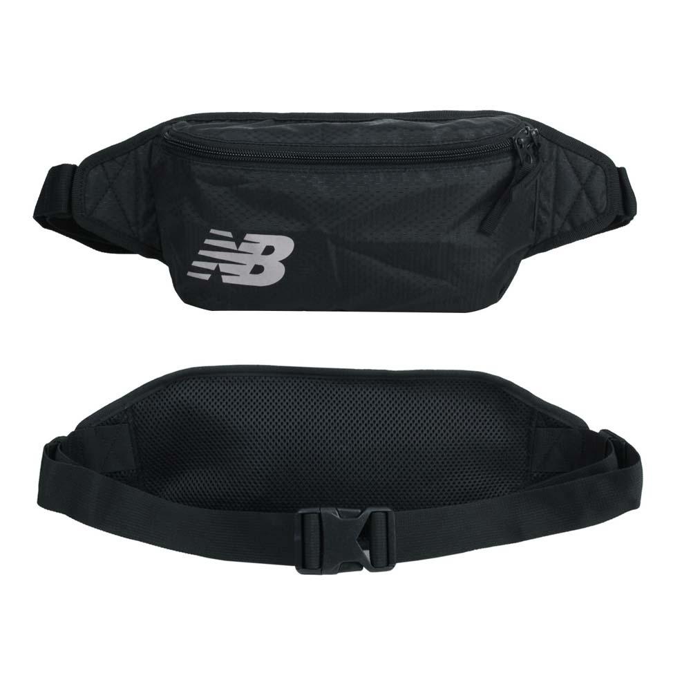 NEWBALANCE 運動腰包-NB 臀包 斜背包 側背包 EQ03072MBSI 黑銀
