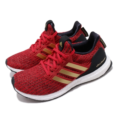 adidas 慢跑鞋 UltraBOOST X GOT W 女鞋 海外限定 愛迪達 襪套 緩震 透氣 穿搭 紅 金 EE3710