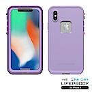 LIFEPROOF iPhone X專用 防水防雪防震防泥超強保護殼-FRE (紫)