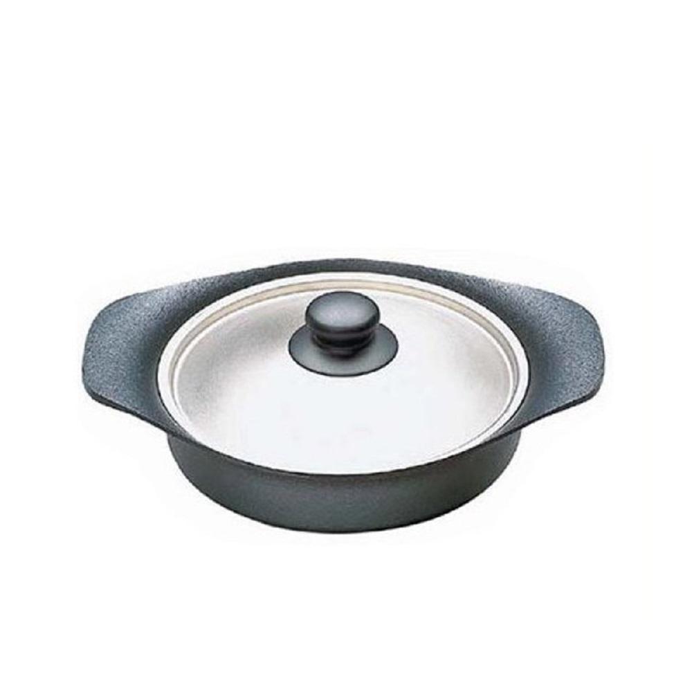 柳宗理 南部鐵器煎盤 附不鏽綱蓋-22cm