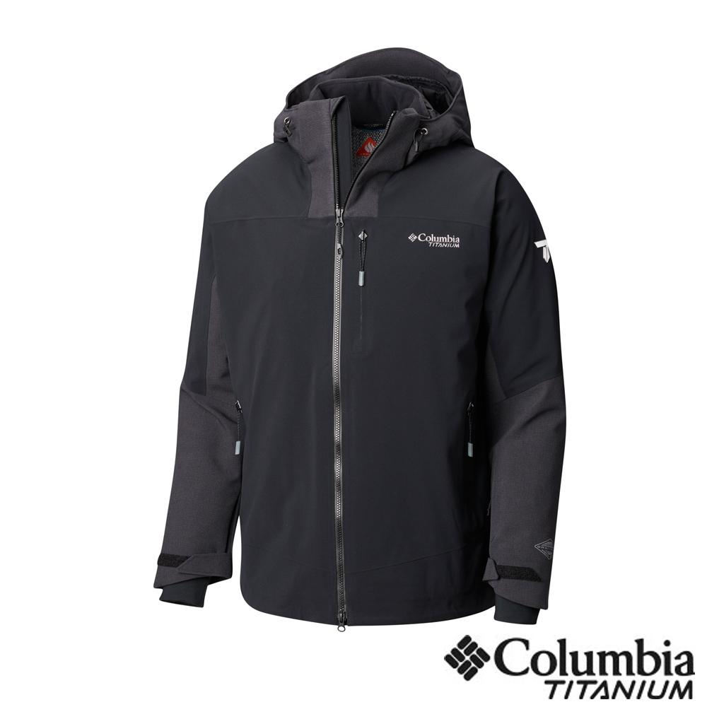 Columbia哥倫比亞 男款-鈦 Omni-Tech防水3D保暖外套-黑色