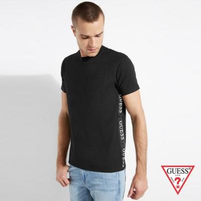GUESS-男裝-素色簡約LOGO短T,T恤-黑 原價1490