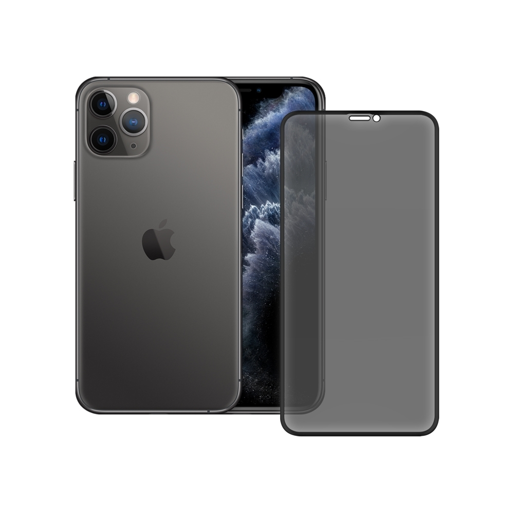 LUCCIDA Apple iPhone 11 Pro 霧面冷雕玻璃貼【3D滿版】