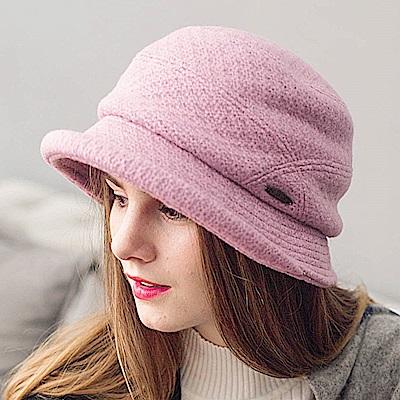 FLYSPIN 高級針織羊毛呢混紡保暖防風淑女圓邊漁夫帽