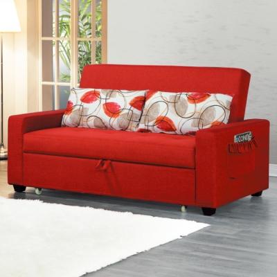 AS-蘿拉紅色布沙發床-180x89x96cm