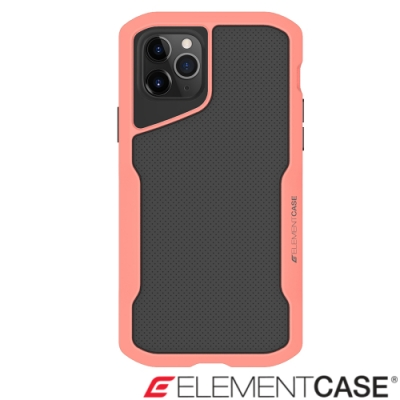 美國Element Case iPhone 11 Pro Shadow流線手感軍規殼-粉橘