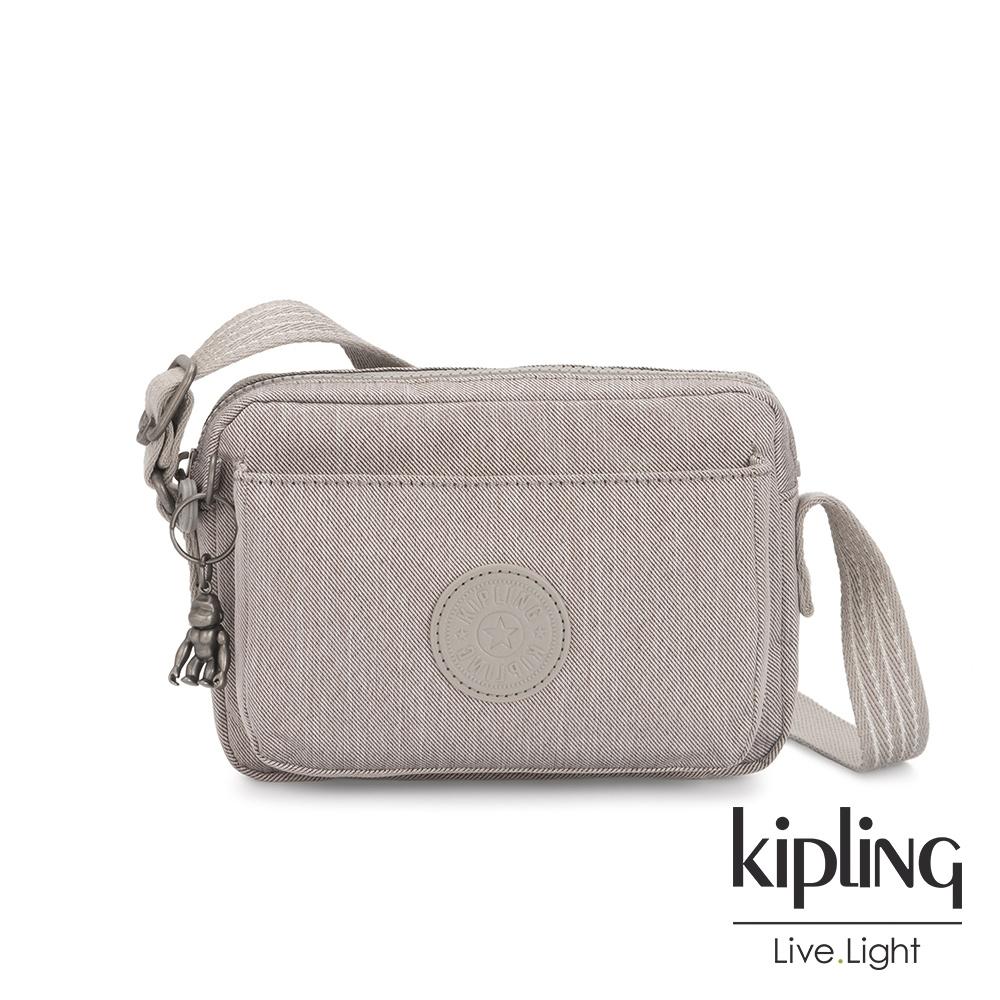 Kipling 溫柔燕麥色前後加寬收納側背包-ABANU