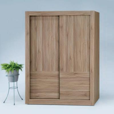 Bernice-原燒梧桐4×7尺拉門衣櫥- 120x58.8x202.5cm