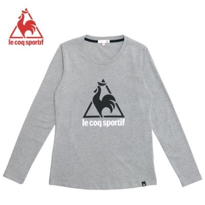 le coq sportif 法國公雞牌休閒長袖T恤 女-麻灰