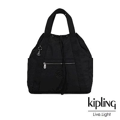Kipling 極致低調黑兩用側背後背包-大-ART BACKPACK M