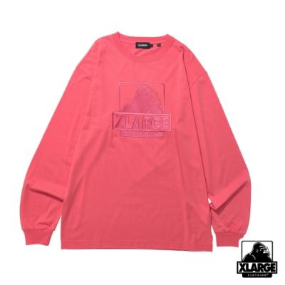 XLARGE L/S TEE EMBROIDERY OG長袖T恤-粉