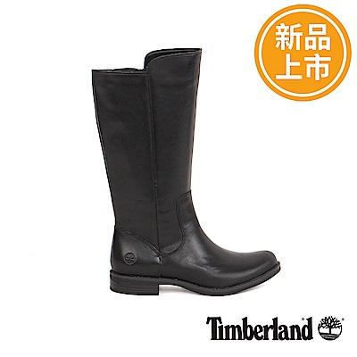 Timberland 女款黑色皮革Magby高筒靴