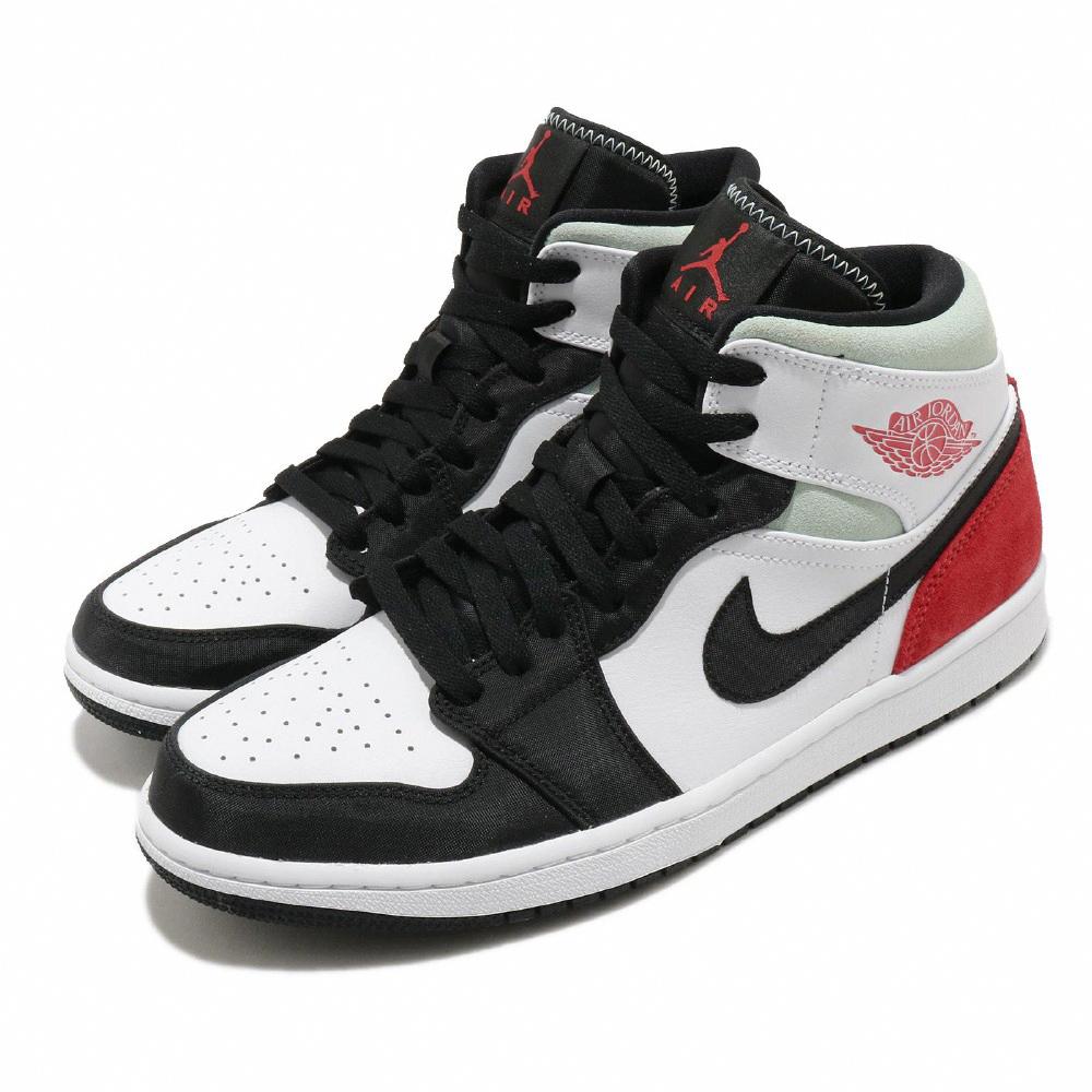 Nike 休閒鞋 Air Jordan 1代 SE 男鞋 AJ1 小Union 黑頭 8孔 喬丹 皮革 麂皮 黑灰紅 852542100