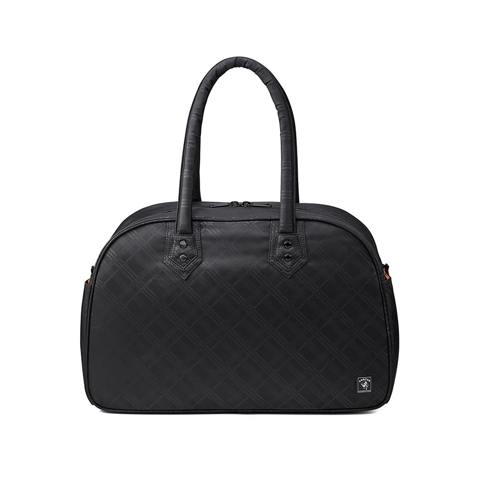 PORTER - 活力豐沛ENERGY簡約實用旅行袋 - 黑格紋
