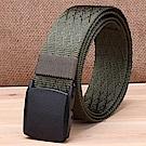 ZK2051GN塑鋼扣頭尼龍腰帶綠色腰圍20吋-40吋適用