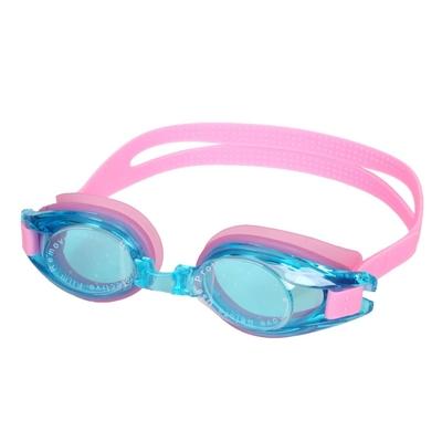 MIZUNO SWIM 兒童泳鏡-台灣製 抗UV 防霧 蛙鏡 游泳 美津濃 N3JF600000-63 透明藍粉紅