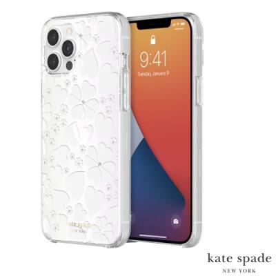 Kate Spade Clover Hearts iPhone 12 Pro Max 愛心/幸運草+白色鑲鑽透明殼