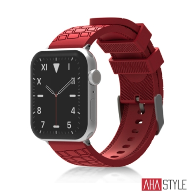 AHAStyle Apple Watch 專用運動矽膠錶帶 越野款 (42/42mm) 紅色