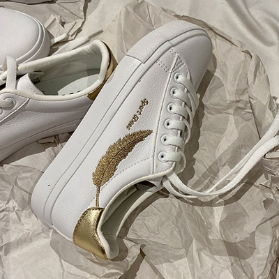 韓國KW美鞋館-(現貨)美式作風完美羽毛平底鞋(共1色)