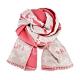 Louis Vuitton All You Need 柔軟羊毛混紡圍巾(紅玫米黃) product thumbnail 1