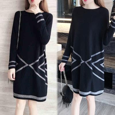 【韓國K.W.】簡約俐落素色顯瘦洋裝