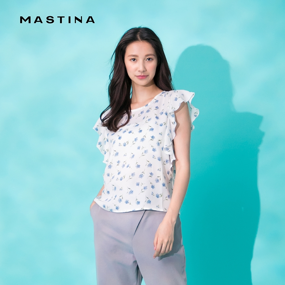 【MASTINA】碎花設計荷葉袖口-襯衫(二色)