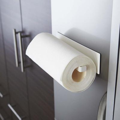 日本【YAMAZAKI】Plate磁吸式廚房紙巾架★毛巾架/廚房收納/餐廚收納/居家收納