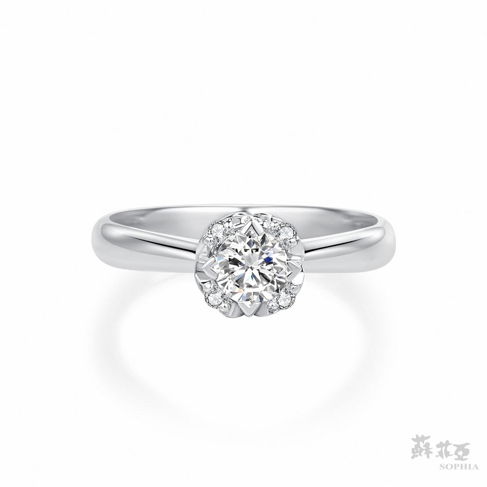 SOPHIA 蘇菲亞珠寶 - 40周年 GIA 30分 E_VS2 18K白金 鑽石戒指