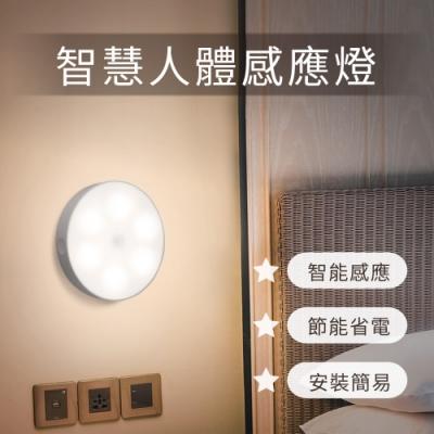 智慧人體感應燈 USB充電式 附磁吸鐵片 動態感應 節能省電
