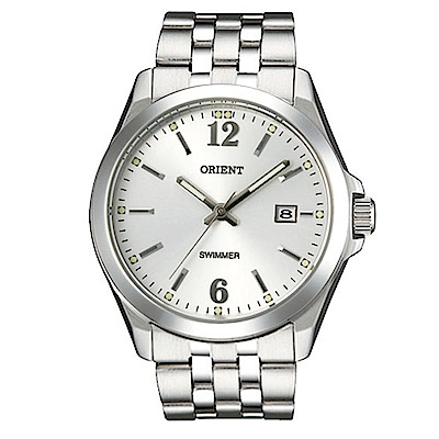 ORIENT東方錶 簡單生活雙重時標石英腕錶(SUND6004W0)-銀白面x36mm