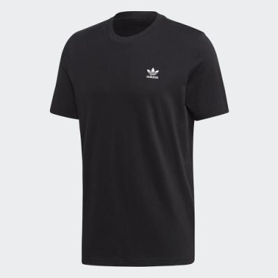 ADIDAS 休閒 運動 短袖 上衣 男款 黑 FM9969 Trefoil Essentials Tee