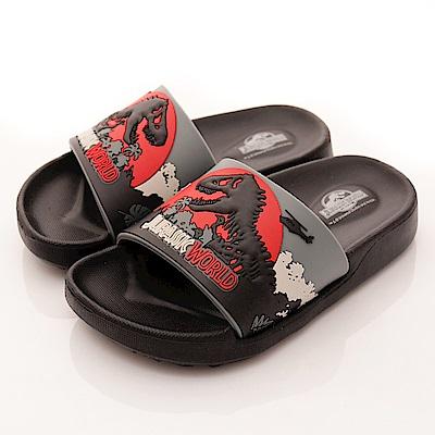 侏羅紀公園童鞋 恐龍超輕拖鞋款 SE4796黑(中小童段)