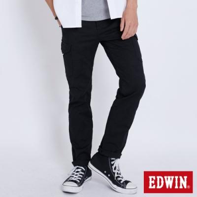 EDWIN KHAKI 迷彩休閒口袋工作褲-男-黑色