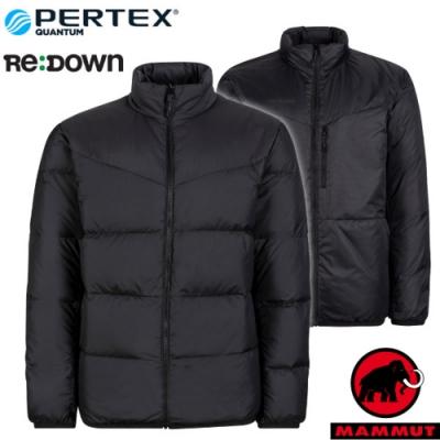 長毛象 男新款 Whitehorn 輕量保暖正反兩穿羽絨外套.夾克_黑