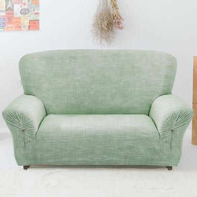 【格藍傢飾】禪思彈性沙發套-綠3人座
