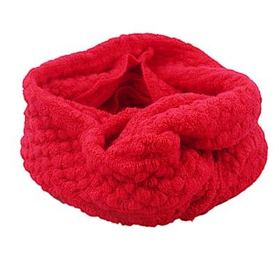 Decoy 純色時尚 點點圍脖套 紅
